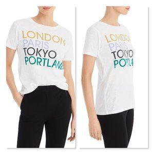 J. Crew London, Paris, Tokyo, Portland Tee sz Lg
